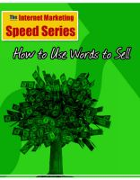 Cover for 'How to words to sell your ebooks or products'