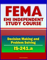 Cover for '21st Century FEMA Study Course: Decision Making and Problem Solving (IS-241.a) - Ethics, Brainstorming, Surveys, Problem-Solving Models, Groupthink, Discussion Groups, Case Studies'