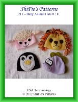 Cover for '211 Baby Animal Hats Crochet Pattern 3 #211'
