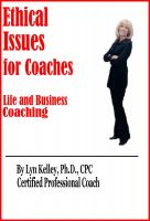 Cover for 'Ethical Issues for Coaches'