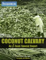 Cover for 'Coconut Calvary: An Inquirer I-Team Special Report'