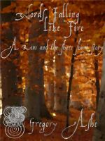 Cover for 'Words Falling Like Fire'