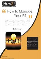 Cover for 'How to Manage Your PR'