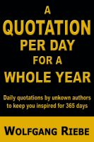 Cover for 'A Quotation Per Day for a Whole Year'