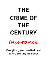 Cover for 'The Crime of the Century Insurance'