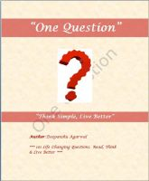 Cover for 'One Question'