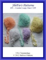 Cover for '209  Loopy Hats Baby Crochet Pattern #209'