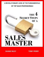 Cover for 'The 4 Secret Steps of a Sales Master'