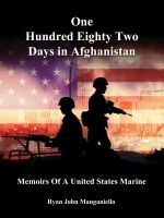 Cover for 'One Hundred Eighty Two Days In Afghanistan'