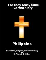 Cover for 'The Easy Study Bible Commentary: Philippians'