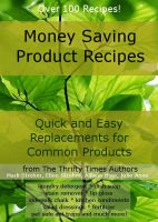 Cover for 'Money Saving Product Recipes'