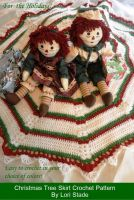 Cover for 'Christmas Tree Skirt Crochet Pattern'