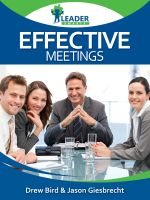 Cover for 'Effective Meetings'
