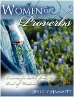 Cover for 'Women of Proverbs: Lessons for Ladies from the Book of Wisdom'