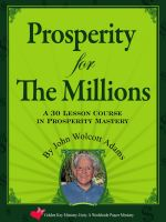 Cover for 'Prosperity for The Millions'