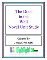 Cover for 'The Door in the Wall Novel Unit Study'