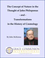 Cover for 'The Concept of Nature in the Thought of John Philoponus'