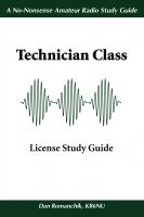 Cover for 'The No-Nonsense Technician Class License Study Guide'