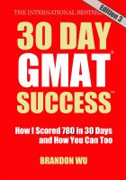 Cover for '30 Day GMAT Success, Edition 3'