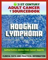 Cover for '21st Century Adult Cancer Sourcebook: Hodgkin Lymphoma (HL) - Clinical Data for Patients, Families, and Physicians'