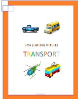 Cover for 'Easy Learning Pictures. Transport'