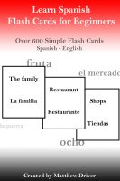 Cover for 'Learn Spanish - Flash Cards for Beginners'