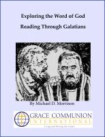 Cover for 'Exploring the Word of God: Reading Through Galatians'