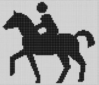 Cover for 'Horse Rider 2 Cross Stitch Pattern'