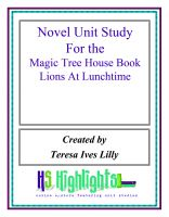 Cover for 'Novel Unit Study for the Magic Tree House Book Lions at Lunchtime'