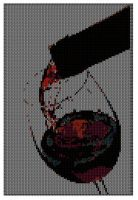 Cover for 'Pouring Wine into a Glass Cross Stitch Pattern'