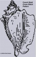 Cover for 'Conch Shell Cross Stitch Pattern'