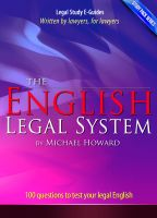 Cover for 'The English Legal System - Study Pack Series'