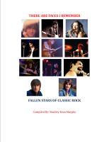 Cover for 'There are Faces I Remember: Fallen Stars of Classic Rock'