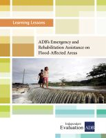 Cover for 'ADB's Emergency and Rehabilitation Assistance on Flood-Affected Areas'