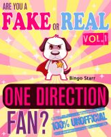 Cover for 'Are You a Fake or Real One Direction Fan? Volume 1 - The 100% Unofficial Quiz and Facts Trivia Travel Set Game'