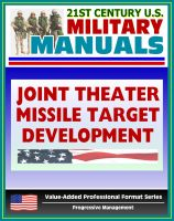 Cover for '21st Century U.S. Military Manuals: Multiservice Procedures for Joint Theater Missile Target Development - JTMTD (Value-Added Professional Format Series)'