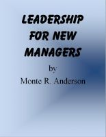 Cover for 'Leadership for New Managers'