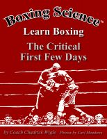 Cover for 'Boxing Science: Learn Boxing - The Critical First Few Days'