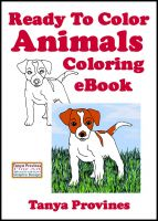 Cover for 'Ready To Color Animals Coloring eBook'