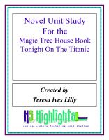 Cover for 'Novel Unit Study for the Magic Tree House Book Tonight on the Titanic'