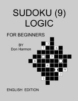 Cover for 'Sudoku (9) Logic for Beginners'