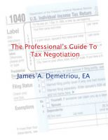 Cover for 'The Professional's Guide to Tax Negotiation'