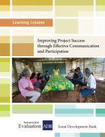 Cover for 'Improving Project Success through Effective Communication and Participation'