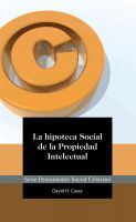 Cover for 'La Hipoteca Social de la Propiedad Intelectual'