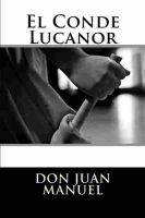 Cover for 'El Conde Lucanor'