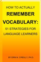 Cover for 'How to Actually Remember Vocabulary: 51 Strategies for Language Learners'