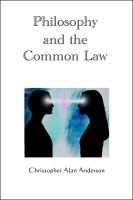 Cover for 'Philosophy and the Common Law'