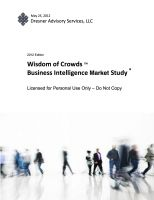 Cover for 'Wisdom of Crowds Business Intelligence Market Study ® - 2012 Edition'