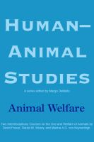 Cover for 'Human-Animal Studies: Animal Welfare'