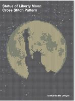 Cover for 'Statue of Liberty Moon Cross Stitch Pattern'